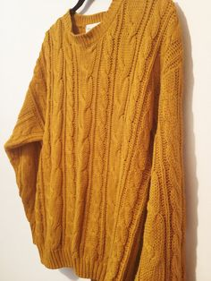 Vintage Mustard Sweater by BeautifulSalvage on Etsy