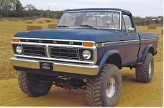 Old Ford 4x4 6 inch lift , 38 ground hawg tires,351 M , 4 speed tranny