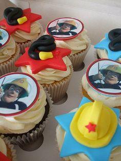 Fireman Sam cupcakes by trulycrumbtious, via Flickr