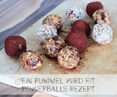 Powerballs Rezept My favorite Powerballs recipe – I'll show you which ingredients you need for the healthy snack in between! Vegan Sweets, Healthy Sweets, Healthy Snacks, Snack Mix Recipes, Raw Food Recipes, Vegetarian Recipes, Healthy Smoothies, Healthy Drinks, Superfood