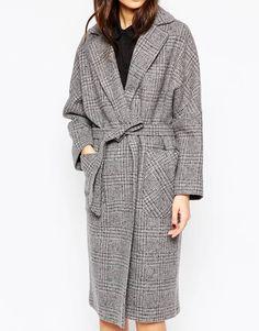 Bild 3 von Helene Berman – Edge to Edge – Grau karierter Oversized-Mantel aus Tweed