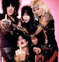 Motley Crue...fun party band! Too Fast For Love, one of the coolest albums!