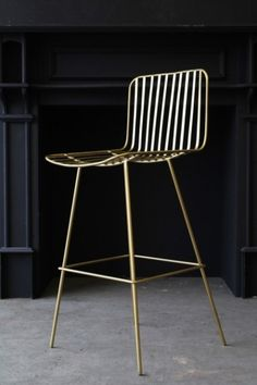 This simple stylish design bar stool is perfect for kitchen islands and bars The Nero Bar Stool is created in an satin black and features simple line Brass Bar Stools, Bar Stool Chairs, Kitchen Stools, Lounge Chairs, Office Chairs, Room Chairs, Side Chairs, Dining Chairs, Gold Kitchen