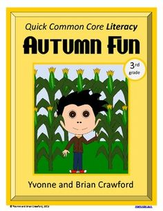 Autumn Fun Quick Common Core Literacy is a packet of ten different worksheets featuring a fall theme focusing on the English grammar and more. $