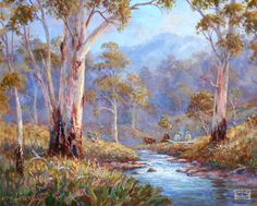 Kevin Hills Top Ten brings the best artists and paintings together to showcase some of Australia's best fine art. Landscape Artwork, Landscape Drawings, Art Drawings, Landscape Pics, Australian Painting, Australian Artists, Guache, Beautiful Paintings, Love Art