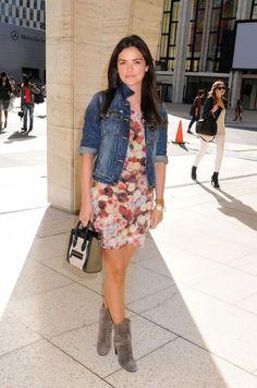 Celebrity chef Katie Lee Joel seen attending the Chris Benz Fashion ...