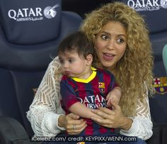 Shakira and baby son http://www.icelebz.com/events/shakira_and_baby_son_cheer_on_dad/photo2.html
