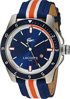 Men's Wrist Watches - Lacoste Mens 2010700DURBAN NavyMulti Watch -- To view further for this item, visit the image link.