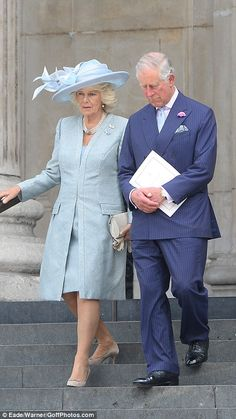 dailymail:  Service of Thanksgiving for Queen Elizabeth's 90th Birthday, St. Paul's Cathedral, June 10, 2016-Duchess of Cornwall and Prince of Wales