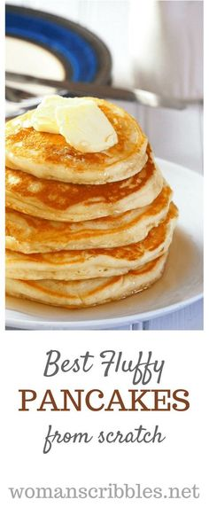 Pancakes breakfast coming up? This is the fool-proof recipe for the ultimate fluffy pancakes that will delight everyone with its light and soft crumbs. #pancakes #breakfast