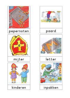 Woordkaarten 'Sint' 2 Dutch Language, Saint Nicolas, Exercise For Kids, Sensory Activities, Speech And Language, Primary School, Preschool, Teaching, Creative
