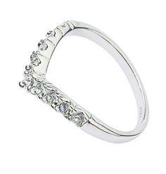 Красивое женское кольцо Morning Dew с кристаллами и покрыто белым золотом цена 1192 руб.