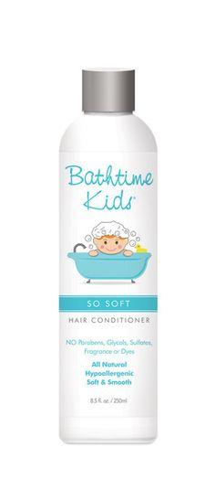 BATHTIME KIDS Squeeky Clean Hair  Shampoo/Conditioner - shampo e condicionador especial para crianças feito com ingredientes que não causam alergias, não tóxicos. Tem fragância natural de pantas, não irrita os olhos. Vende online, lojas de produtos naturais e para bebês dos EUA, Canadá e UK. Preço Médio: US$ 14.50 #cosmeticdetox #crueltyfree #kids #hair #cabelos #criança #nontoxic #bathtimekids