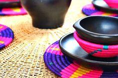 Vajilla de Barro Negro; Oaxaca, México. ¡Lindísima!♥