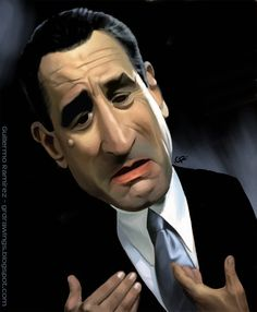 Guillermo Ramirez - Caricature of Robert De Niro Funny Caricatures, Celebrity Caricatures, Celebrity Drawings, Cartoon Faces, Funny Faces, Cartoon Art, Caricature Drawing, Drawing Art, Funny Art