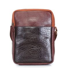 Brune  Leather  Brown Unisex  Messenger  Bag 11f8147390187