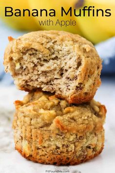You are going to love these healthy muffins. Moist, full of flavor and no guilt allowed. Enjoy these for breakfast or a healthy snack. Quick Apple Dessert, Apple Dessert Recipes, Breakfast Recipes, Banana Muffins No Sugar, Healthy Banana Muffins, No Carb Bread, Almond Flour Recipes, Meals For The Week, Sweet Tooth