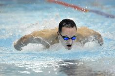 Swimmer Ben Lovell throws himself into a butterfly stroke at the #Kroc Center pool in Coeur d'Alene. #Lovell wants to test his skills at the U.S. #Olympic trials. Photo by Jesse Tinsley, The Spokesman-Review. #spokane #CDA #SPO #swimming