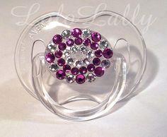 Baby Bling Fuchsia and Diamond Swarovski Crystal by LoloLally