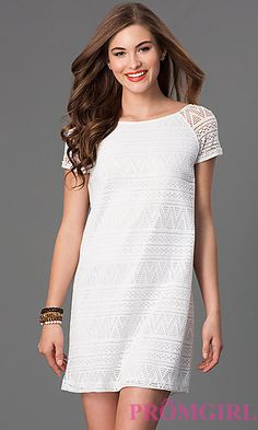 Short Sleeve Ivory Dress by Speechless at PromGirl.com
