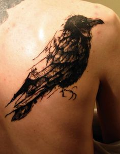 #tattoo #madrid #sketch #boceto #dibujo #cuervo #pajaro #negro #black #bird #crow #raven