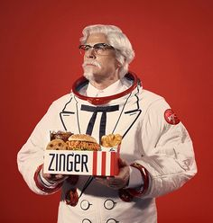 KFC Will Launch a Chicken Sandwich Into Space With the Help of Celebrity Colonel Rob Lowe – Adweek