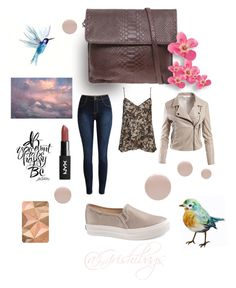 """Brown dreams pocket"" by alex-groma on Polyvore featuring moda, French Connection, Eve Snow, Sans Souci, Clé de Peau Beauté y Keds"