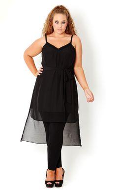 Sheer Trim Tunic Plus Fashion 0e53bb1ea