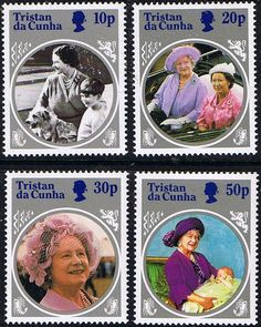 Tristan Da Cunha Queen Mother Life and Times Set Fine Mint SG 390/3 Scott  372/6 Other South Pacific and British Commonwealth Stamps HERE!
