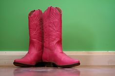 My dirty little secret... I want a hot pink pair of cowboy boots..