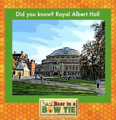 The Royal Albert Hall's oval dome broke the record for the largest glass dome in the world when it was opened in 1871. The 279-ton dome had to be blacked out during the wars yet German pilots used it as a navigation point so it survived. Fun Facts For Kids, Royal Albert Hall, Children's Picture Books, Amazing Adventures, Glass Domes, Book Illustration, Pilots, London England, Geography
