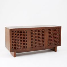 """Carved Wood Media Console, 59.25""""w x 20""""d x 29""""h., $998"""