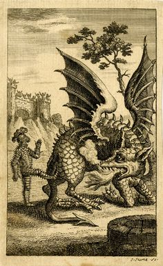 "kriemhildsrevenge: "" Scene from the ballad 'The Dragon of Wantley'; Print made by John June ca. 1744-1775 The bawdy ballad 'The Dragon of Wantley' may have been first printed in 1699 in 'Wit and Mirth: Or, Pills to Purge Melancholy', and was later..."