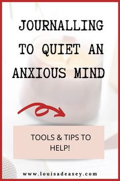 Want to learn the techniques to journal in a way that quiets the monkey mind of anxiety? Read the blog post for tools and techniques to help!