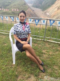 """""""I'm sorry, Su. Please don't spank me."""" I begged my young flight attendant stepmother. It was in vain! Over her knee I went. Beautiful Asian Women, Beautiful Legs, Rachel Riley Legs, Pencil Skirt Work, Promotional Model, Military Women, Pantyhose Legs, Sexy Stockings, Flight Attendant"""