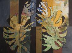 Tajemniczy ogród 2, Joanna Szumska, technika mieszana, 110 x 150 cm, 2016