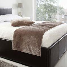 Velvet Quilted Bed Runner, Mink