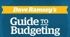 Free copy of Dave Ramsey's Guide to Budgeting