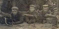 MG08-15 ayant la particularité de disposer de marquages à la peinture faisant références à leur affectation, le 130ème régiment d'infanterie.