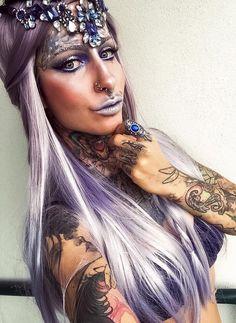 Fantasy Ice Queen Ice Queen, Halloween Face Makeup, Hairstyle, Fantasy, Hair Job, Hair Style, Hairdos, Fantasy Books, Hair Styles