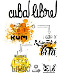 Aline Albino - Cuba Libre Bar Drinks, Alcoholic Drinks, Beverages, Cuba, Getting Drunk, Summer Drinks, Bartender, Cooking Time, Food And Drink