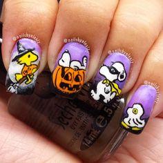 snoopy halloween by nailsbyalexiz #nail #nails #nailart