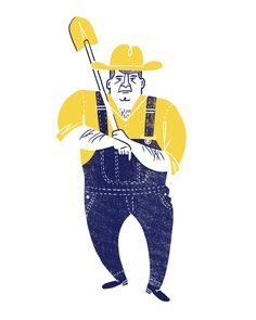 Brad Woodard - Farmer character design