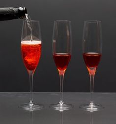 Pomegranate and Cranberry Bellini - I made these on New Year's Eve - such a wonderful drink!!! - Thanks Amanda!