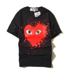 COMME Des GARÇONS PLAY Black Red Shirt Material: Cotton and Bamboo Fiber