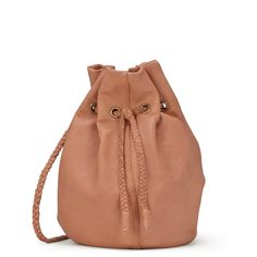 1cf7a40822 Sole Society Montana braided leather bucket bag Buttery soft leather