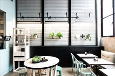 Patch Cafe in Melbourne is more than a simple restaurant, it's full of design surprises—playful tiles, custom joinery, a plywood shingle roof, and wire-mesh-covered walls. And let's not forget the paleo-inspired menu.