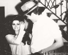 Priscilla Presley walks in on her surprise 22nd birthday party thrown by Elvis at Graceland, May 24, 1967.