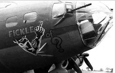 The Fickle Finger Strikes Hard | Flickr - Photo Sharing! | WW2 Bomber - Nose Art | Scoop.it