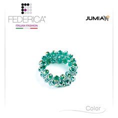Bracelet BETTA 1  Stretch chain crystal bracelet. Iridescent green. 1.800,00 Ksh http://www.federicafashion.com/it/ep188/bracelet-betta-1/ http://www.jumia.co.ke/federica-fashion/